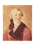 Joseph Haydn (1732-1809) Giclee Print by Christian Ludwig Seehas