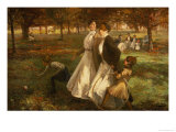 Autumn in Kensington Gardens Giclee Print by James Wallace
