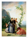 The Florists or Spring, 1786 Giclee Print by Francisco de Goya