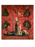 "The Lady and the Unicorn: ""Touch,"" circa 1500 Premium Giclee Print"