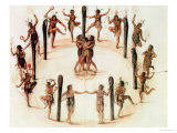 Indians Dancing Giclee Print by John White