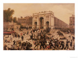 Manhood Suffrage Riots in Hyde Park, 1866 Giclee Print by Nathan Hughes
