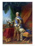 Louis XV (1715-74) King of France & Navarre, 1750 Giclee Print by Carle van Loo