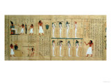Mythological Papyrus of Imenemsaouf, Third Intermediate Period, circa 1000 BC (Painted Papyrus) Giclee Print