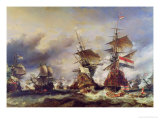 The Battle of Texel, 21st August 1673 Premium Giclee Print by Louis Eugene Gabriel Isabey