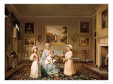 Mrs. Congreve and Her Children in Their London Drawing Room, 1782 Giclee Print by Philip Reinagle