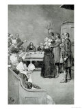 The Trial of a Witch, from &quot;Giles Corey, Yeoman&quot; by Mary E. Wilkins, Pub. in Harper&#39;s Magazine Giclee Print by Howard Pyle