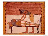 Anubis Attends Sennedjem's Mummy, from the Tomb of Sennedjem, the Workers' Village, New Kingdom Giclee Print