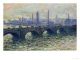 Waterloo Bridge, 1902 Giclée-tryk af Claude Monet