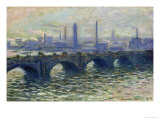 Waterloo Bridge, 1902 Giclee Print by Claude Monet