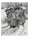 Arresting a Witch, Engraved by J. Bernstrom Giclee Print by Howard Pyle
