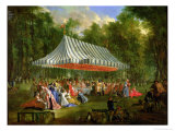 Festival Given by the Prince of Conti to the Prince of Brunswick-Lunebourg at L'Isle-Adam, 1766 Giclee Print by Michel Barthélémy Ollivier