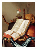 Vanitas Still Life Premium Giclee Print by Edwaert Collier