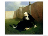 The Nun in the Cloister Garden, 1869 Giclee Print by Gabriel Max