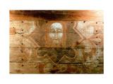 Holy Shroud: Templar Panel Painting Giclee Print