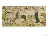 The French and the English Fall Side by Side in Battle, from the Bayeux Tapestry Giclee Print