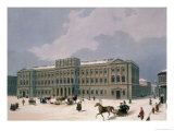 Palace of the Grand Duke of Leuchtenberg in St. Petersburg, Printed by Lemercier, Paris, 1840s Giclee Print by Louis Jules Arnout