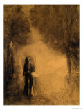 "The Walker, Study for ""The Walking Buddha,"" 1890-95 Giclee Print by Odilon Redon"
