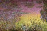 Claude Monet - Waterlilies at Sunset, 1915-26 - Giclee Baskı