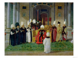 Reception at the Court of the Sultan Selim III (1761-1807) Premium Giclee Print