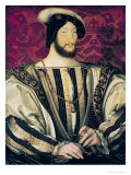 Portrait of François I, King of France, Ca.1530 Premium Giclee Print by Jean Clouet the Younger