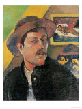 Self Portrait in a Hat, 1893-94 Premium Giclee Print by Paul Gauguin