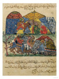 "An Old Man and a Young Man in Front of the Tents of the Rich Pilgrims, from ""The Maqamat"" Giclee Print"