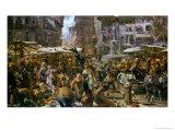 The Market of Verona, 1884 Giclee Print by Adolph von Menzel