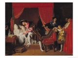 Francis I (1494-1547) Receives the Last Breaths of Leonardo Da Vinci (1452-1519) 1818 Giclee Print by Jean-Auguste-Dominique Ingres