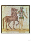 Horse Rider in Racing Colours Giclee Print