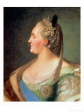 Portrait of Empress Catherine II the Great (1729-96), after 1763 Giclee Print by Fedor Stepanovich Rokotov