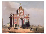The Red Gate in Moscow, Printed by Lemercier, Paris, 1840s Giclee Print by Louis Jules Arnout