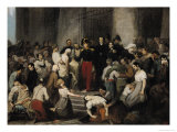 The Duke of Orleans Visiting the Sick at L'Hotel-Dieu During the Cholera Epidemic in 1832 Reproduction procédé giclée par Alfred Johannot