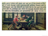 A School Teacher Explaining the Meaning of a Letter to Illiterate Workers, 1516 Giclee Print by Hans Holbein the Younger