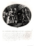 The Last Goodbyes of Louis XVI (1754-93) to His Family, 20th January 1793 Giclee Print by Francois Maria Isidore Queverdo