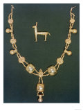 Necklace and Figure of a Llama, Chimu Culture Giclee Print
