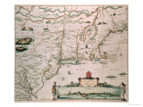 "New Belgium, Plate from ""Atlas Contractus"" circa 1671 Premium Giclee Print by Nicholas Visscher"