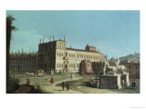 View of the Palazzo Del Quirinale, Rome Giclee Print by Michele Marieschi