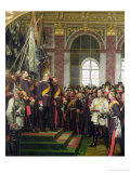 The Proclamation of Wilhelm as Kaiser of the New German Reich, in the Hall of Mirrors at Versailles Premium Giclee Print by Anton Alexander von Werner