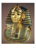 The Gold Funerary Mask, from the Tomb of Tutankhamun (circa 1370-52 BC) New Kingdom Premium Giclee Print