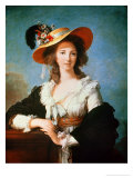 Portrait of the Duchess of Polignac (circa 1749-93) Impression giclée par Elisabeth Louise Vigee-LeBrun