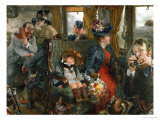 On a Journey to Beautiful Countryside, 1892 Premium Giclee Print by Adolph von Menzel