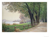 The Fontenay in Hamburg Premium Giclee Print by Ascan Lutteroth