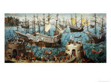 Embarkation of Henry VIII (1491-1547) on Board the Henry Grace a Dieu in 1520 Giclee Print by Friedrich Bouterwek