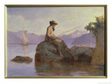 Fishing Giclee Print by François-Louis David Bocion