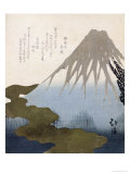 Mount Fuji under the Snow Giclee Print by Toyota Hokkei