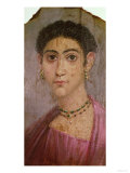 Portrait Panel from the Mummy or Coffin of a Woman, from Fayum, Roman Period, 2nd Century AD Giclee Print