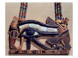 Wedjet Eye Pectoral, from the Tomb of Tutankhamun (circa 1370-52 BC) New Kingdom Giclee Print