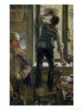 Breakfast at the Cafe, 1894 Giclee Print by Adolph von Menzel