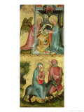 The Annunciation and the Flight into Egypt, from the Buxtehude Altar, 1400-10 Giclee Print by Master Bertram of Minden